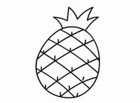 儿童学画水果简笔画菠萝简笔画