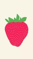 草莓卡通可爱手机壁纸聊天背景