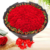 相思难却-99朵红玫瑰花束