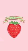 韩国手绘卡通草莓可爱壁纸