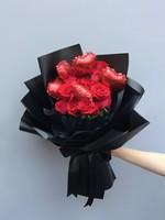 热气球---红玫瑰花束