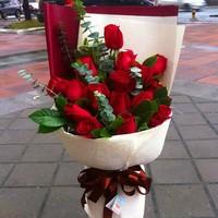 19朵红玫瑰花束
