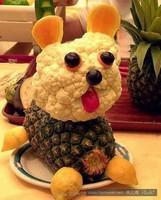 创意水果拼盘,如此创意水果怎舍得吃!,-唯美-桃花庵