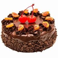 巧克力水果生日蛋糕图片大全