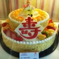老人双层水果生日蛋糕图片大全