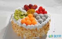 简单水果生日蛋糕图片