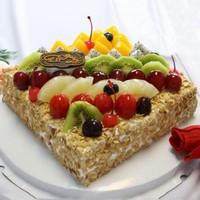 男孩水果生日蛋糕图片