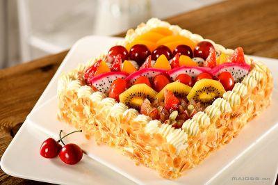 简单好看水果蛋糕图片大全大图