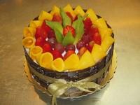八层水果蛋糕图片大全