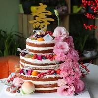 老人水果蛋糕图片创意