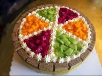 简单水果蛋糕装饰图片