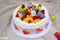 简单漂亮水果蛋糕图片
