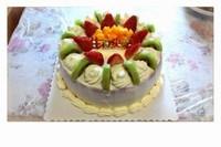 6寸简单水果蛋糕图片