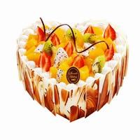 水果爱心蛋糕图片