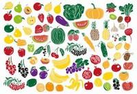 水果蔬菜简笔画图片带颜色