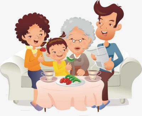 水果蔬菜一家人简笔画图片
