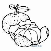 幼儿水果简笔画大全,关于橘子的简笔画画法,秋天水果简笔画怎么画