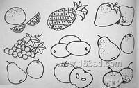 秋天水果蔬菜的简笔画分享展示