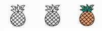 秋天的水果菠萝简笔画
