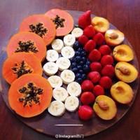 水果盘摆放图片有创意