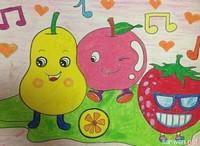 水果创意画作品图片