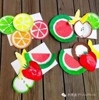纸盘水果创意画图片