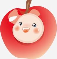 卡通创意水果可爱娃娃脸苹果
