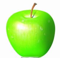 绿色的水果图片简笔画