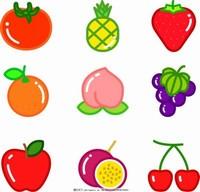 卡通水果图案简笔画