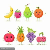 正文,可爱水果简笔画带颜色第2/2组