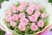 一朵粉玫瑰花送给自己女朋友,代表着你是我的唯一