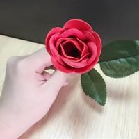 女生手拿玫瑰花唯美图