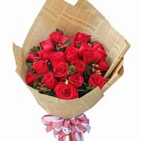 情侣红玫瑰花图片