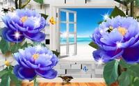 风景玫瑰花图片