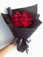 韩式红玫瑰花束图片