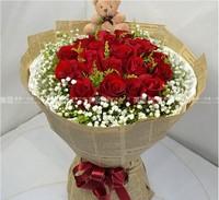 十九支红玫瑰花束图片