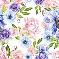 银莲花水彩图片